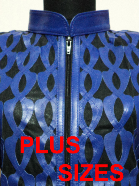 Click to See Available Colours of Plus Size Leather Leaf Jackets for Women Design 05 Genuine Short Zip Up Light Lightweight